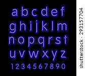 neon glow alphabet. vector... | Shutterstock .eps vector #293157704
