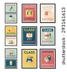 school poster flat banner... | Shutterstock . vector #293161613