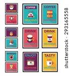 coffee poster flat banner...   Shutterstock . vector #293165558