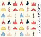 seamless pattern made of moscow ... | Shutterstock .eps vector #293168690