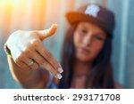 hip hop rap girl | Shutterstock . vector #293171708