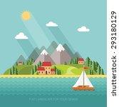 summer landscape. little... | Shutterstock .eps vector #293180129