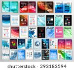 set of flyers  background ... | Shutterstock .eps vector #293183594
