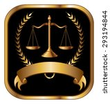 law or lawyer seal gold is an... | Shutterstock . vector #293194844