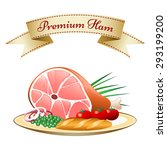 Natural Food On A Plate. Ham...