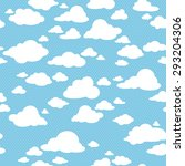 blue sky with clouds  vector... | Shutterstock .eps vector #293204306