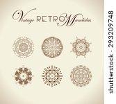 vintage retro mandala design....   Shutterstock .eps vector #293209748