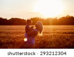 happy family. young mother...   Shutterstock . vector #293212304