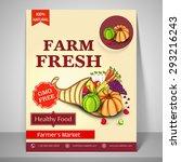 farm fresh template  banner or... | Shutterstock .eps vector #293216243