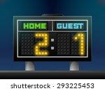 electronic soccer scoreboard... | Shutterstock .eps vector #293225453