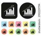 business graph. icon. vector
