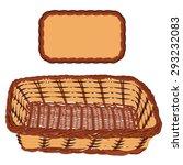brown wicker basket handmade...   Shutterstock . vector #293232083
