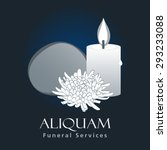 funeral services business sign... | Shutterstock .eps vector #293233088