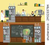 scientists in lab concept with... | Shutterstock .eps vector #293233784