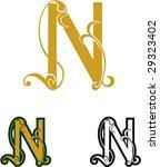 set of vector letters n for... | Shutterstock .eps vector #29323402