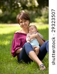 mother and the small child sit... | Shutterstock . vector #29323507