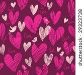 cute cartoon hearts   vector... | Shutterstock .eps vector #29323738