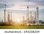 oil refinery factory in the... | Shutterstock . vector #293238239