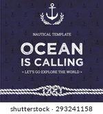 nautical vector card template...