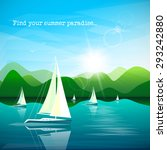 sailboats regatta on beautiful... | Shutterstock .eps vector #293242880