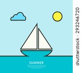 sailboat sailing in the sea. ...