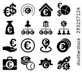 euro banking business and... | Shutterstock .eps vector #293257124