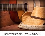 cowboy country music image with ... | Shutterstock . vector #293258228