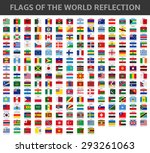 flags of the world reflection | Shutterstock .eps vector #293261063