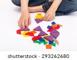 young child playing and... | Shutterstock . vector #293262680
