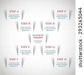 template for diagram  graph ... | Shutterstock .eps vector #293265044