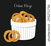 onion rings in plate on... | Shutterstock .eps vector #293271734