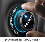 man fingers setting priority... | Shutterstock . vector #293274554