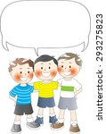 three boys with blank border | Shutterstock .eps vector #293275823
