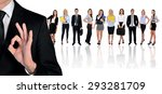 young business team and ok sign | Shutterstock . vector #293281709