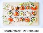 finger food appetizer   Shutterstock . vector #293286380