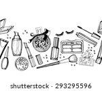 seamless cosmetics  pattern... | Shutterstock .eps vector #293295596