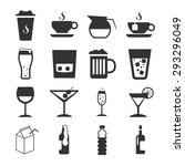 drink icon set | Shutterstock .eps vector #293296049