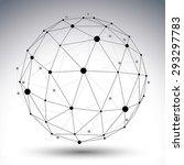 abstract deformed vector black... | Shutterstock .eps vector #293297783
