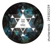 sci fi  cosmic round... | Shutterstock .eps vector #293302259