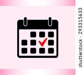 calendar sign icons  vector... | Shutterstock .eps vector #293315633