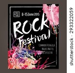 rock event poster or flyer... | Shutterstock .eps vector #293322059