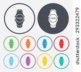 wristwatch icon.  | Shutterstock .eps vector #293322479