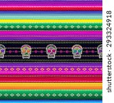 seamless ethnic mexican fabric... | Shutterstock .eps vector #293324918