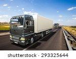 3d design semi trailer delivery ... | Shutterstock . vector #293325644