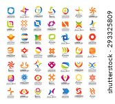 unusual icons set   isolated on ... | Shutterstock .eps vector #293325809