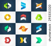 minimalistic geometric origami... | Shutterstock .eps vector #293331320