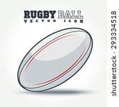 Rugby Ball Icon With Shadow On...