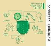 beet apple chard  green juice...   Shutterstock .eps vector #293350700