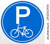 park area sign for bicycles | Shutterstock .eps vector #293351954