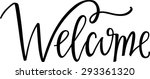 hand lettered welcome sign | Shutterstock .eps vector #293361320